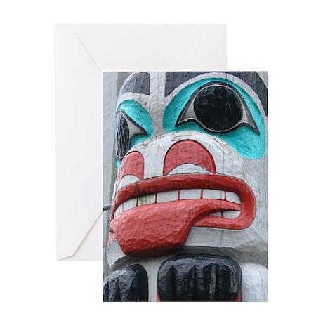 Kalama Totem Pole Greeting Card