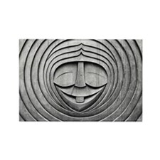 Carved Face Rectangle Magnet