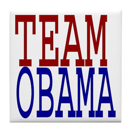 Team Obama pro Democrat Tile Coaster