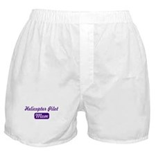 Helicopter Pilot mom Boxer Shorts