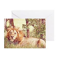 Unique Lion mane Greeting Card