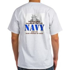 Navy Daughter Ash Grey T-Shirt