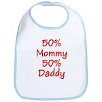 Red 50% Mommy Daddy Bib