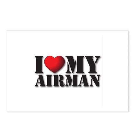Love My Airman Postcards (Package of 8)