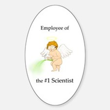 Employee of the #1 Scientist Oval Decal