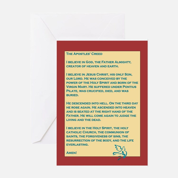 Apostles' Creed Blue Dove Greeting Card