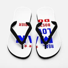 Real Man Love Boston Terrier Dog Flip Flops