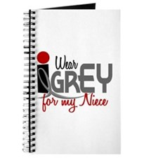 I Wear Grey For My Niece 32 Journal