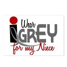 I Wear Grey For My Niece 32 Postcards (Package of