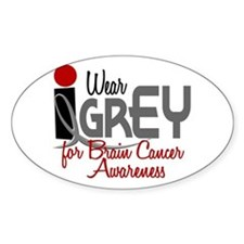 I Wear Grey For BC Awareness 32 Oval Decal