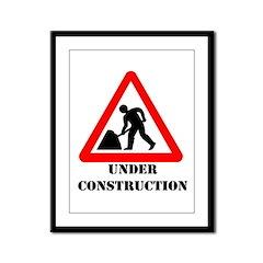 Under Construction Framed Panel Print
