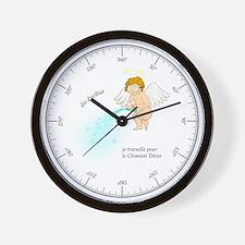 Je Travaille pour le Chimiste Divin Wall Clock