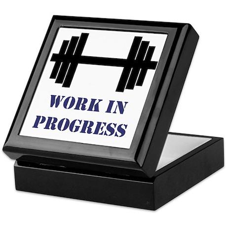 Gym Work In Progress Keepsake Box