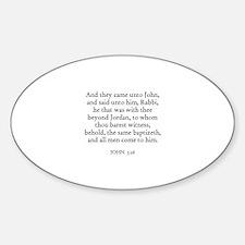 JOHN 3:26 Oval Decal