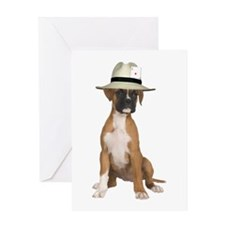 Poker Boxer Greeting Card
