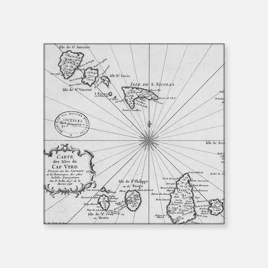 Vintage Map of Cape Verde (1746) Sticker