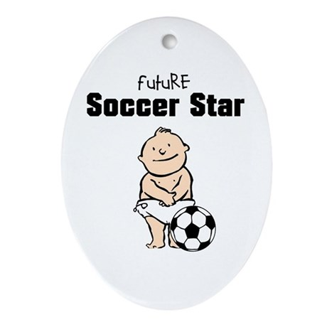 Future Soccer Star Ceramic Ornament