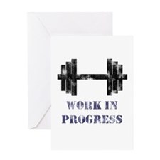 Gym Work In Progress Distressed Greeting Card