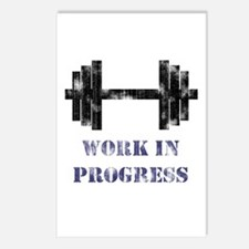 Gym Work In Progress Distressed Postcards (Package