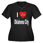 I Love Oklahoma City (Front) Women's Plus Size V-N