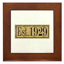 1929 Framed Tile