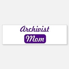 Archivist mom Bumper Car Car Sticker