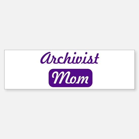 Archivist mom Bumper Car Car Sticker
