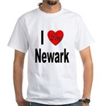 I Love Newark (Front) White T-Shirt