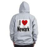 I Love Newark (Back) Zip Hoodie