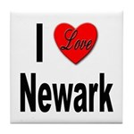 I Love Newark Tile Coaster