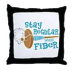 Stay Regular Throw Pillow