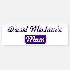 Diesel Mechanic mom Bumper Car Car Sticker