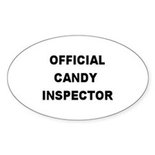 OFFICIAL CANDY INSPECTOR Oval Decal