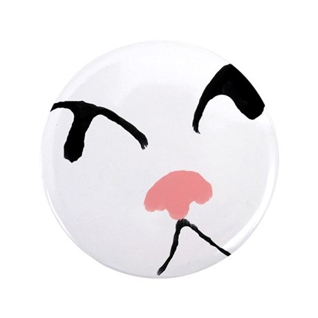 "Kitty Face 3.5"" Button (100 pack)"