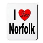 I Love Norfolk Mousepad