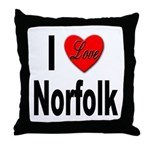 I Love Norfolk Throw Pillow