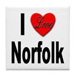 I Love Norfolk Tile Coaster
