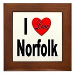 I Love Norfolk Framed Tile