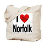 I Love Norfolk Tote Bag