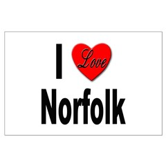 I Love Norfolk Posters