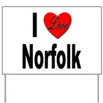 I Love Norfolk Yard Sign