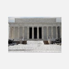 Lincoln Memorial in the snow Rectangle Magnet