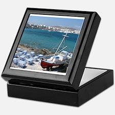 Mykonos Boat Keepsake Box