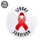 "Stroke Survivor 3.5"" Button (10 pack)"
