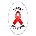 Stroke Survivor Oval Sticker