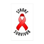 Stroke Survivor Rectangle Sticker 50 pk)
