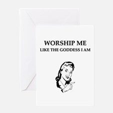 goddess gifts and t-shirts Greeting Card