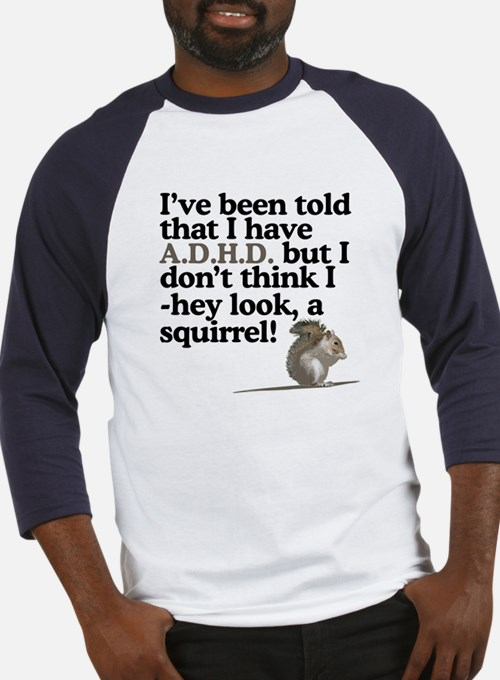 hey look, a squirrel! Baseball Jersey