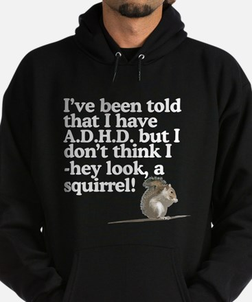 hey look, a squirrel! Hoodie (dark)