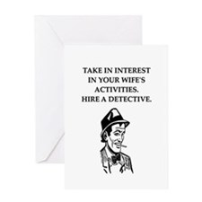 detective gifts and t-shirts Greeting Card